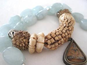 Aquamarijn met Boeddha Amulet (verkocht)