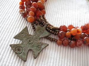 Antieke Kornalijn met Kruisvaarders Kruis