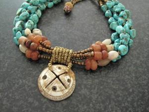 Turkoois met Antieke haarschelp - Kleurrijke Wereld Sieraden
