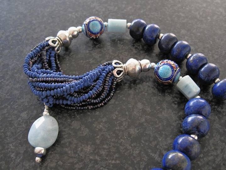 Lapis Lazuli en Aquamarijn - Kleurrijke Wereld Sieraden