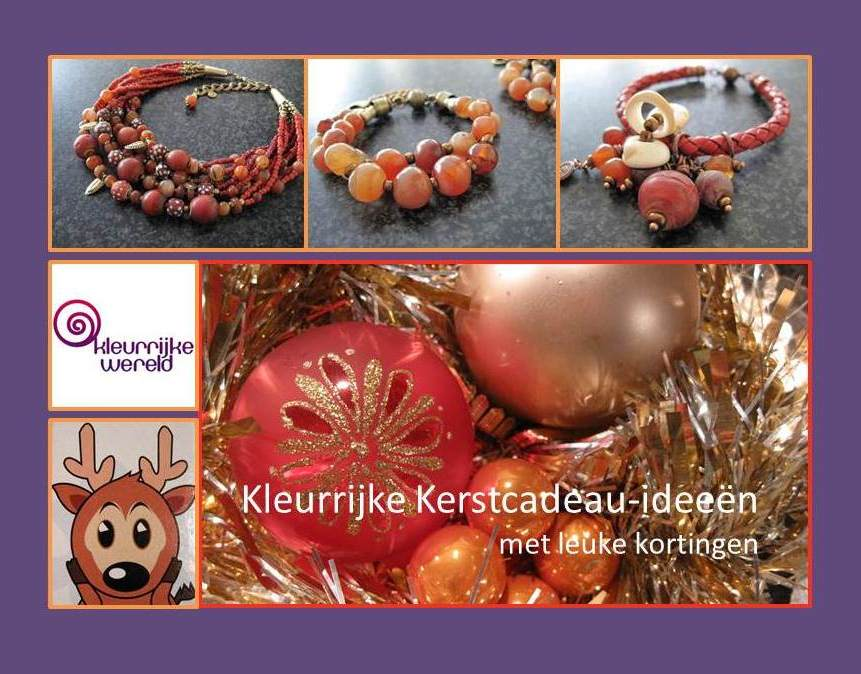 Kerstaanbieding Kerstkorting Kerstcadeau - Kleurrijke Wereld Sieraden