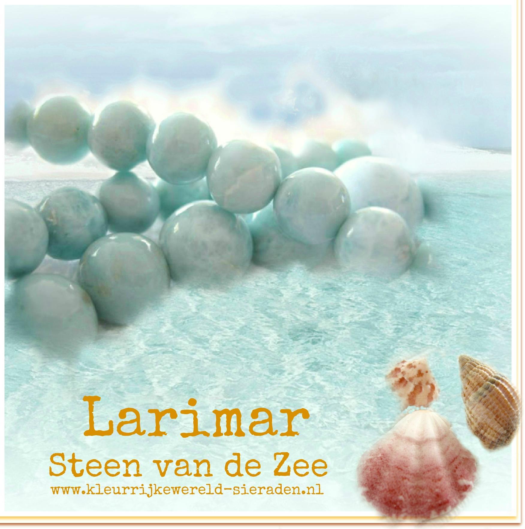Larimar Edelsteen - Kleurrijke Wereld Sieraden