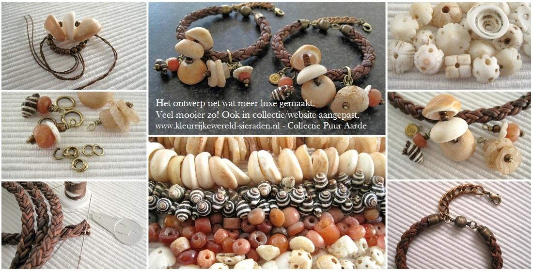 Kijkje in de Keuken - maken van leren armband Collectibles handelskralen - Kleurrijke Wereld Sieraden