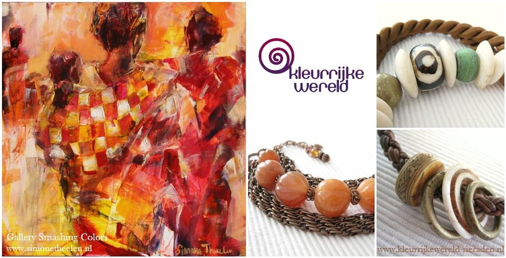 Expositie Simone Theelen - Gallery Smashing Colors - Kleurrijke Wereld Sieraden