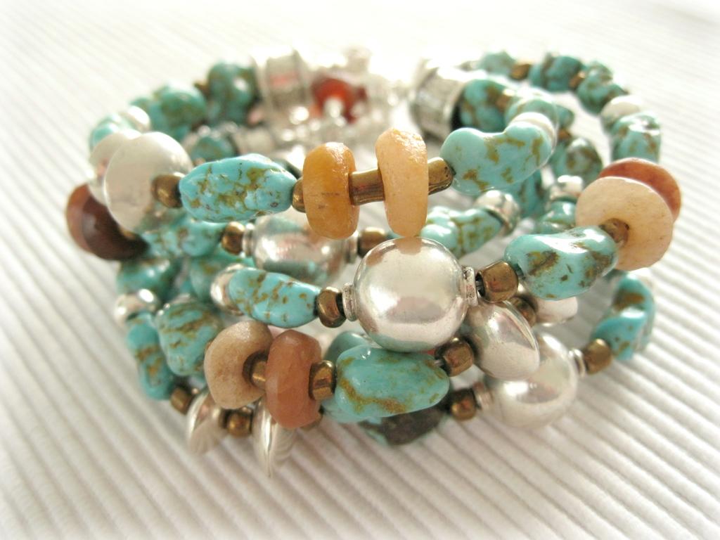 Turkoois - De Luxe - Armband - Kleurrijke Wereld Sieraden