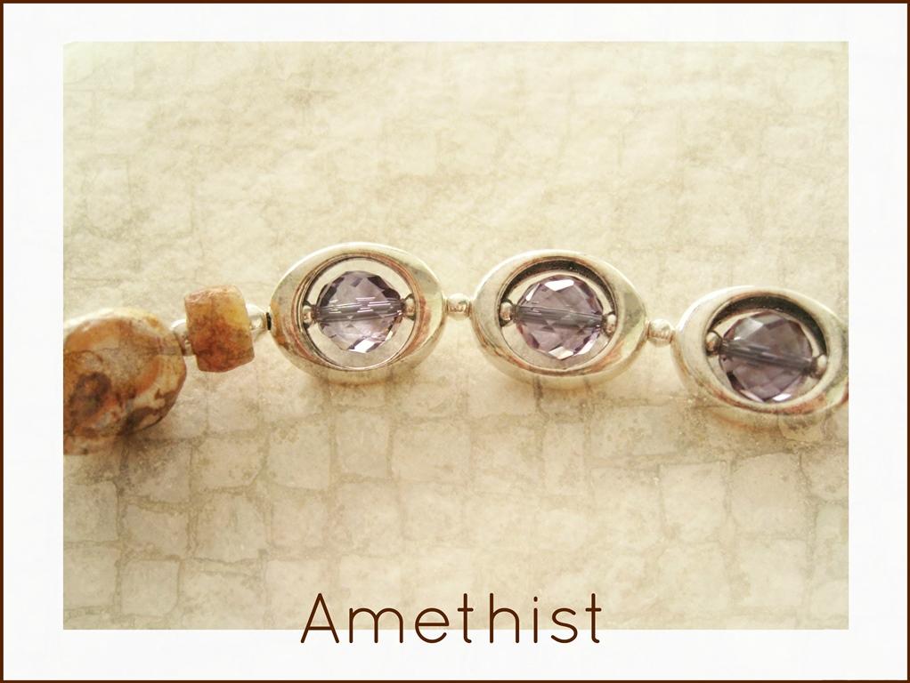 Amethist met oude spinsteentjes - 5 -kleurrijke wereld sieraden