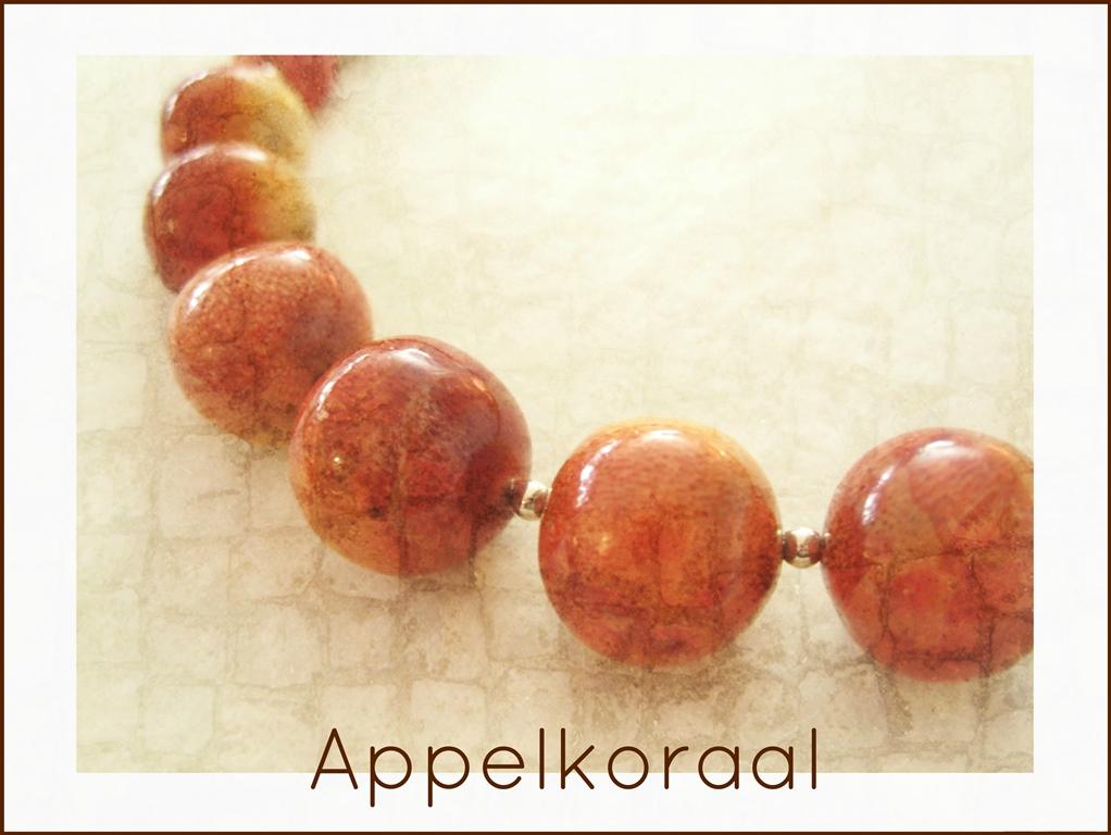 Oude appelkoraal - 5 - kleurrijke wereld sieraden