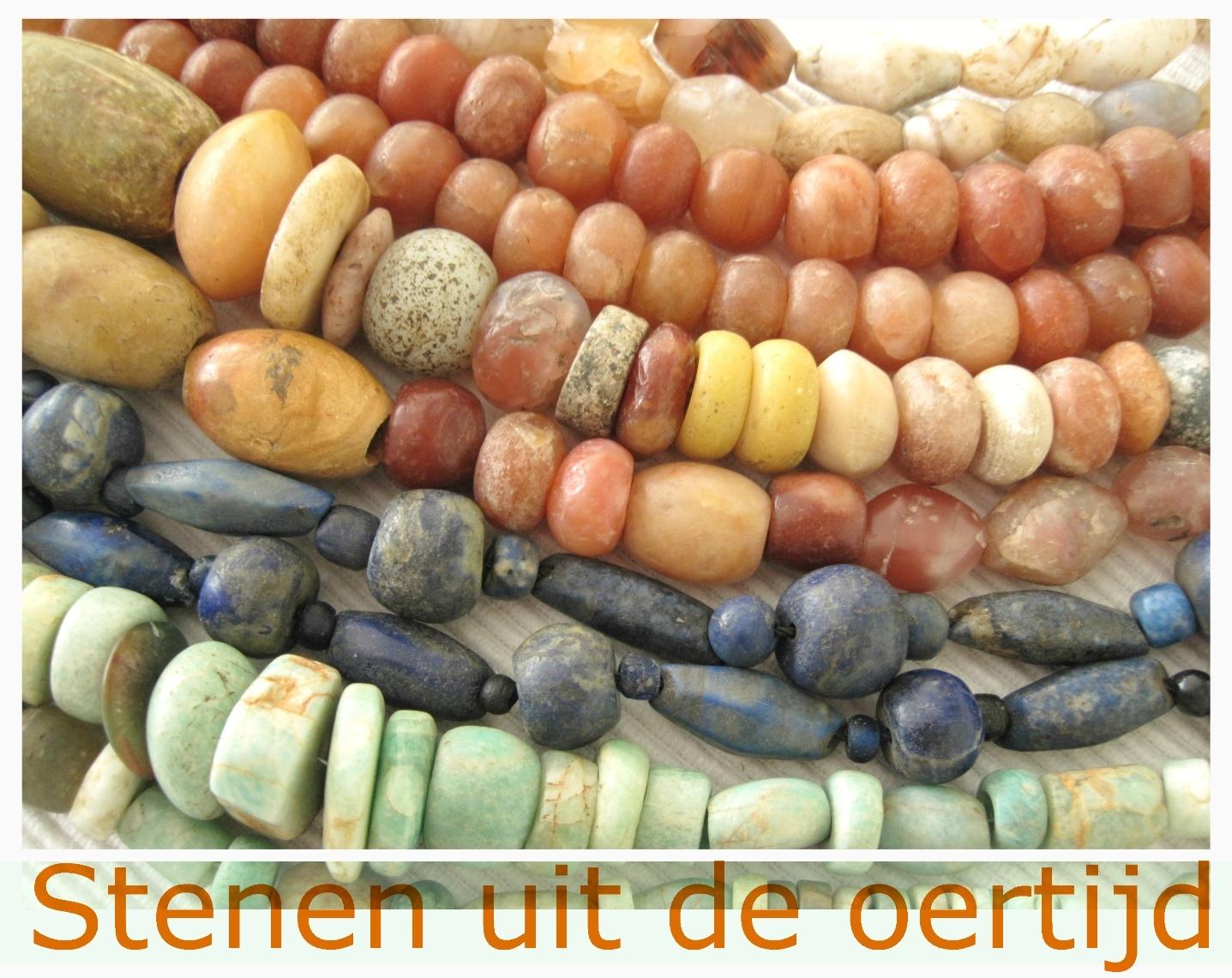 Neolithische kwarts - Kleurrijke Wereld Sieraden - stenen uit de oertijd