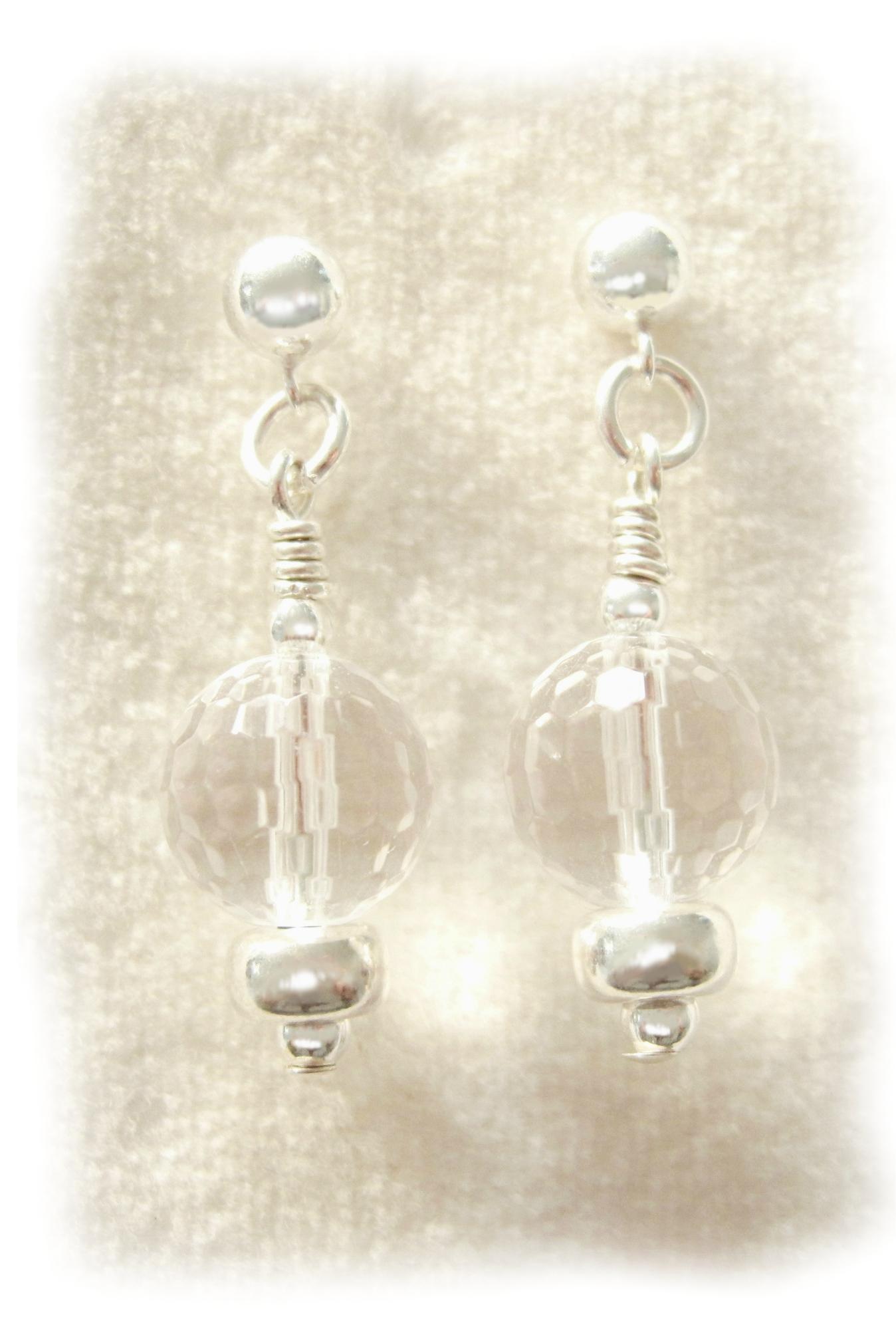 December actie 2013 - gratis oorbellen - Bergkristal - Kleurrijke Wereld Sieraden
