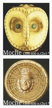 Moche goudwerk - Kleurrijke Wereld Sieraden