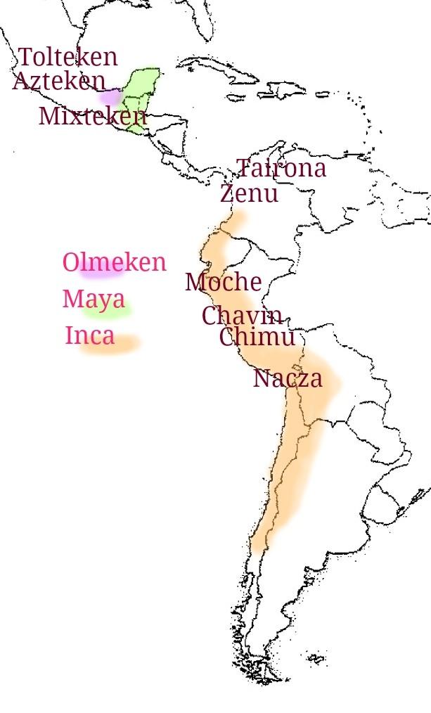 Overzicht Precolumbiaanse beschavingen -Kleurrijke Wereld Sieraden