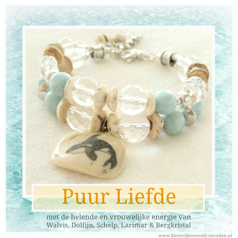 Larimar - Walvis - Dolfijn armband