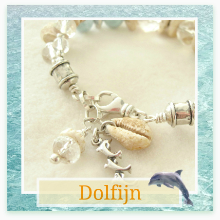 Dolfijn en Larimar armband - Kleurrijke Wereld Sieraden