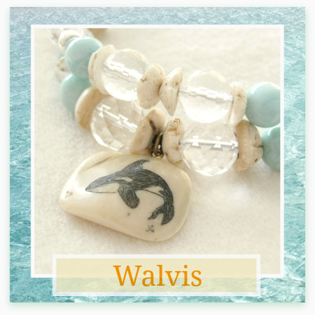 Walvis en Larimar armband - Kleurrijke Wereld Sieraden