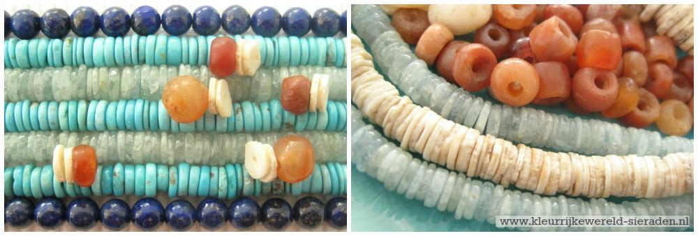 turkoois - aquamarijn -lapis lazulli - kleurrijke wereld sieraden
